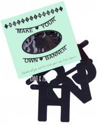 DIY word banner zwart