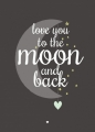 ansichtkaart love you to the moon