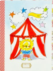 Blond uitnodigings kaarten 'to the circus'