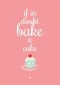 poster A3 bake a cake