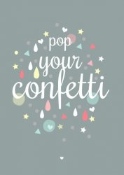 poster A3 pop your confetti