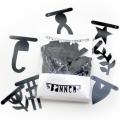 lovely letter banner zwart
