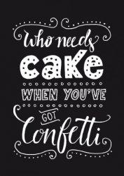 ansichtkaart who needs cake