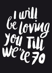 ansichtkaart I will be loving you