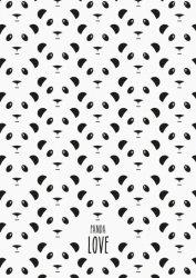 ansichtkaart panda love