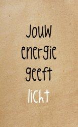 Zinvol kaart jouw energie geeft licht