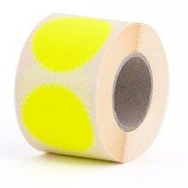 10 fluor gele ster stickers