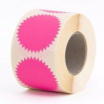 10 fluor roze ster stickers