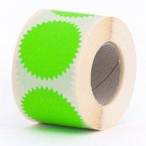 10 fluor groene ster stickers