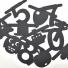 extra symbolen & nummer banner zwart
