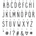 lightbox letter set: hand draw