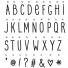 lightbox letter set: hand draw
