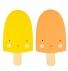 ijs haakjes oranje & geel