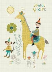 Bee Brown kaart joyful giraffe