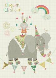 Bee Brown kaart elegant elephant