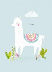 ansichtkaart hola alpaca