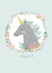 ansichtkaart magical eenhoorn