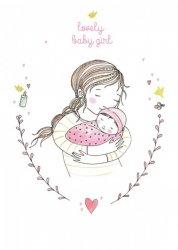 ansichtkaart lovely baby girl