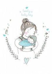 ansichtkaart lovely baby boy