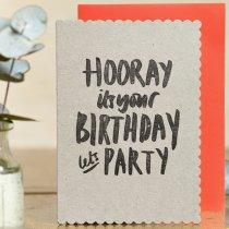 wenskaart hooray it's your birthday