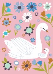 Tara Lily ansichtkaart baby zwaan roze