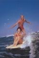 ansichtkaart surfing