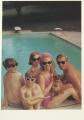 ansichtkaart polaroid swimming pool