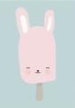 ansichtkaart bunny pop