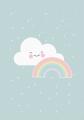 ansichtkaart rainbow