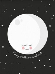 poster A3 love you to the moon and back