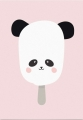 ansichtkaart panda pop