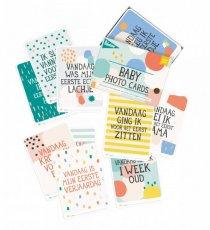 milestone baby cards grafisch