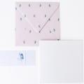 wenskaart heel veel hartjes met roze envelop