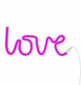 neon stijl lamp love roze