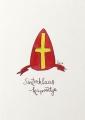 ansichtkaart de mijter van Sinterklaas