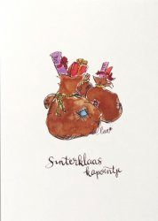 ansichtkaart de zak van Sinterklaas