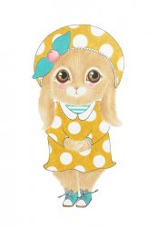 A5 kaart + envelop Holly het konijntje