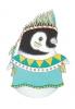 A5 kaart + envelop Lola de pinguïn