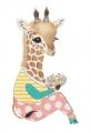 A5 kaart + envelop Guusje het girafje