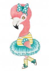 A5 kaart + envelop Froukje de flamingo
