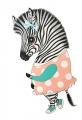 A5 kaart + envelop Ella de zebra