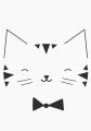 ansichtkaart monochroom cat