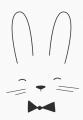 ansichtkaart monochroom rabbit