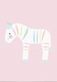 ansichtkaart zebra pastelette