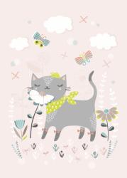 Flora Waycott ansichtkaart cat