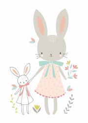 Flora Waycott ansichtkaart bunny friends
