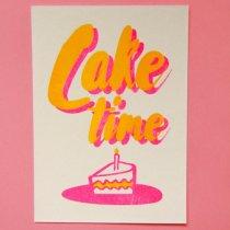 neon fun kaart cake time