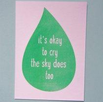 neon fun kaart it is okey to cry