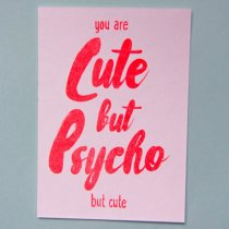 neon fun kaart cute but psycho but cute