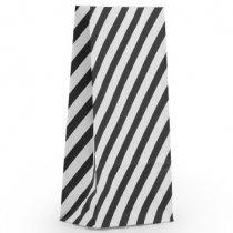 5 x zwart witte streep zakjes met bodem 12,5 x 7,5 x 27 cm
